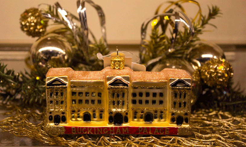 Buckingham Palace ornament found at the Largest Christmas Store.