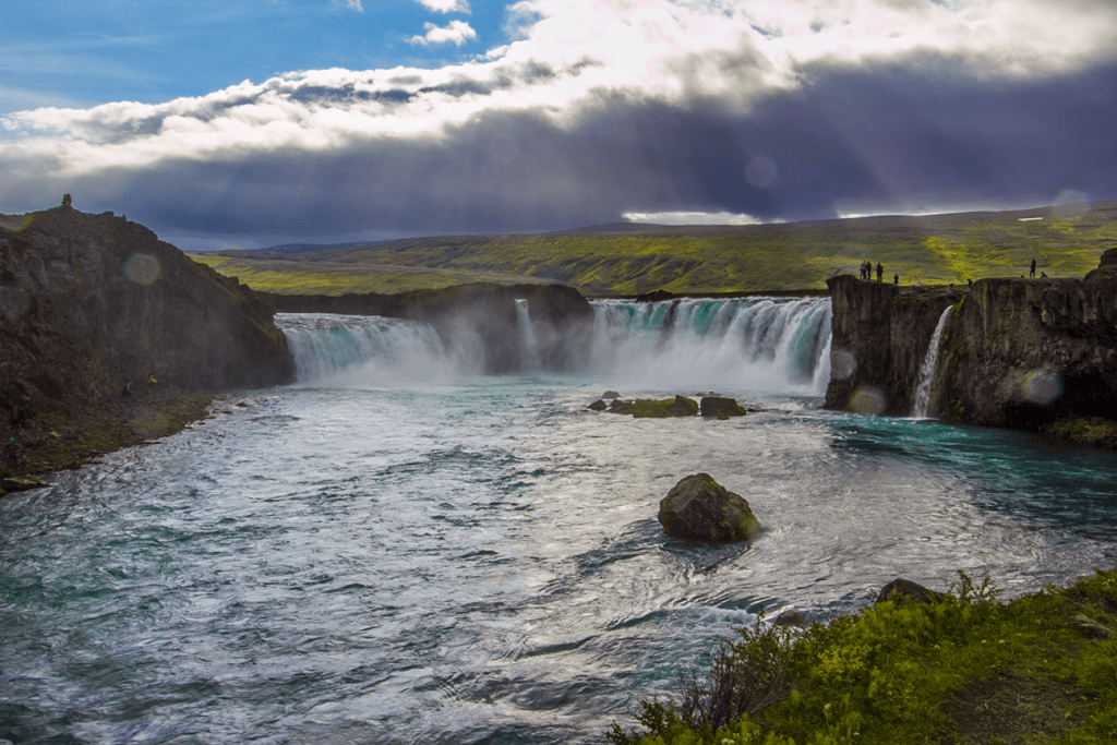 Stop 6 on the Iceland itinerary: Godafoss waterfall.