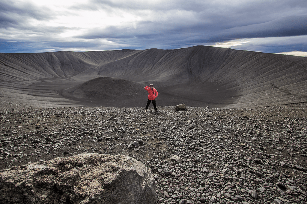 Day 5 stop of the Iceland Itinerary: Hverfjall crater near Myvatn.