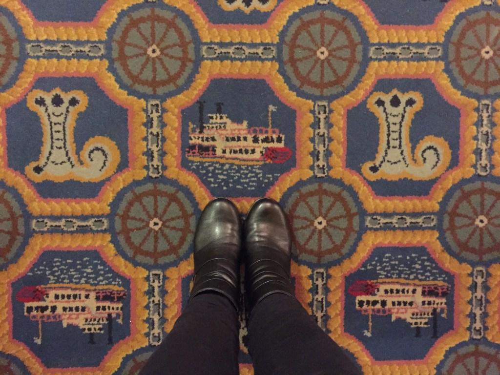 carpet at the Lafayette Hotel in Marietta, Ohio