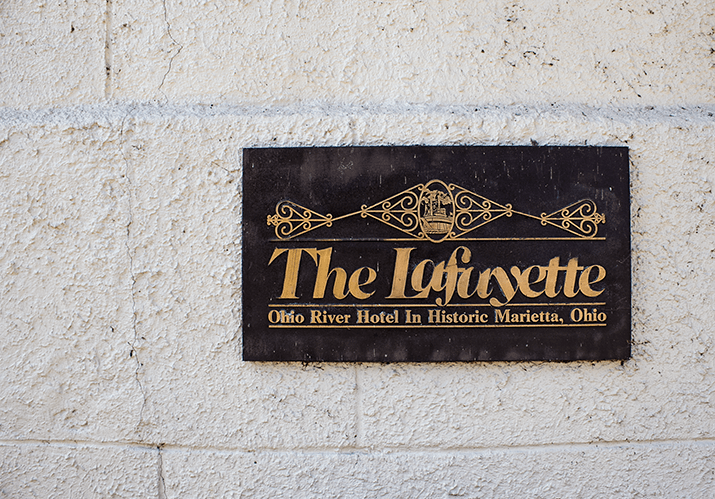 Sign at the Lafayette Hotel