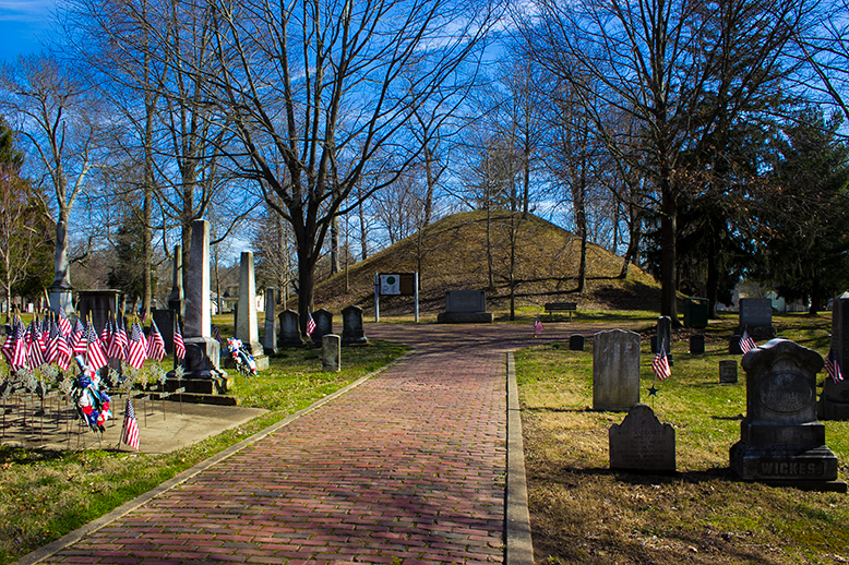 Hopewell mound at the Mound Cemetery