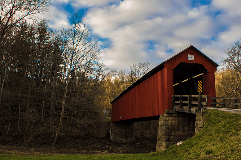 Hune Covered bridge outside of Marietta Ohio