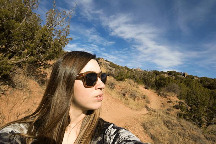 selfie of travel blogger Amanda in Palo Duro Canyon Texas