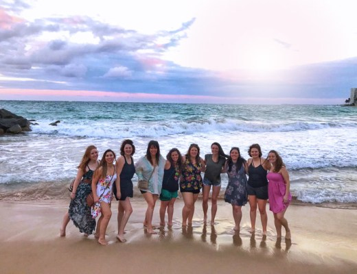 Puerto Rico Bachelorette Party - girls at Condado Beach sunset