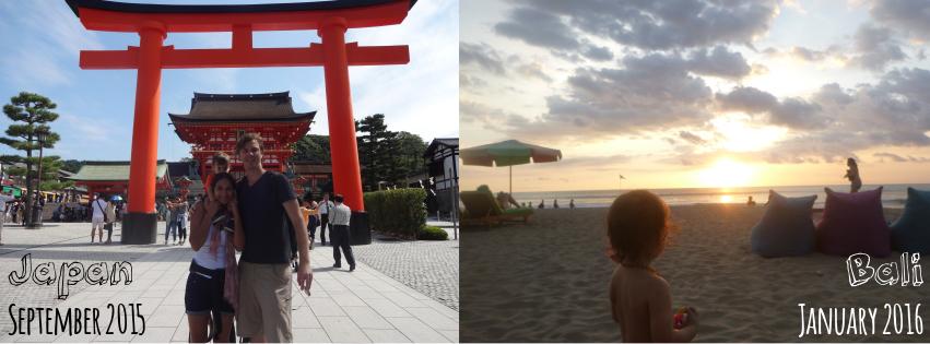 Japan and Bali