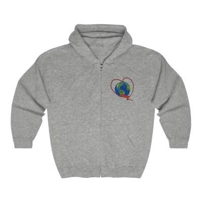 Love to Travel | Full Zip Hooded Sweatshirt