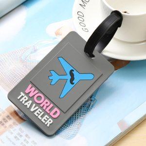 3 - Grey World Traveler - LITTLE TRAVELER LUGGAGE TAG