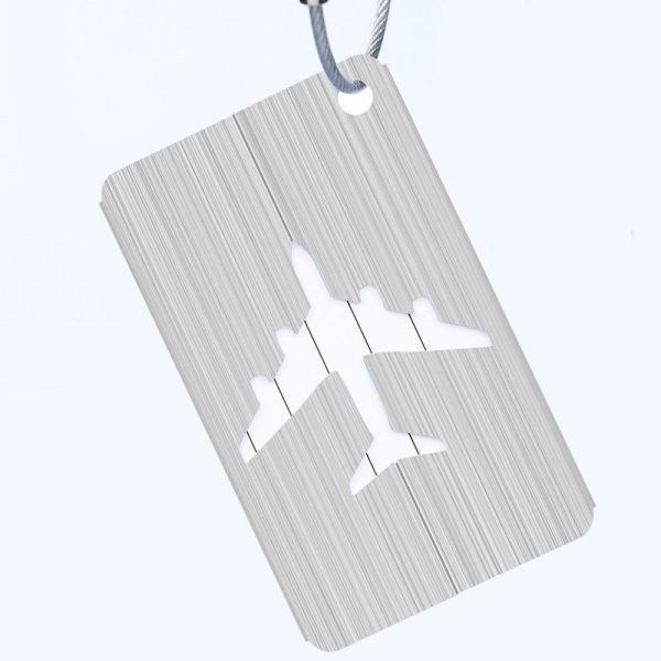 Silver - METALLIC COLOURED LUGGAGE TAGS