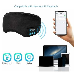 SLEEP MASK WITH BUILT IN WIRELESS HEADPHONES