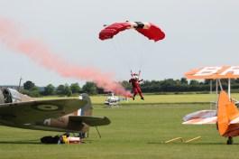 Squadron leader landing