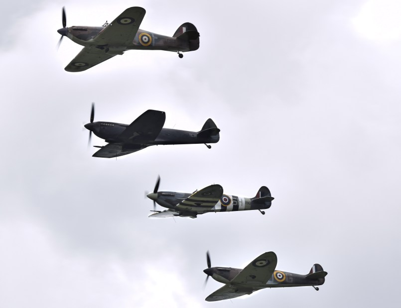Four ship flypast