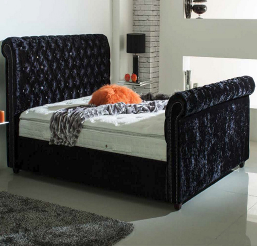 Chesterfield 6 Super King Size Fabric Bed The World