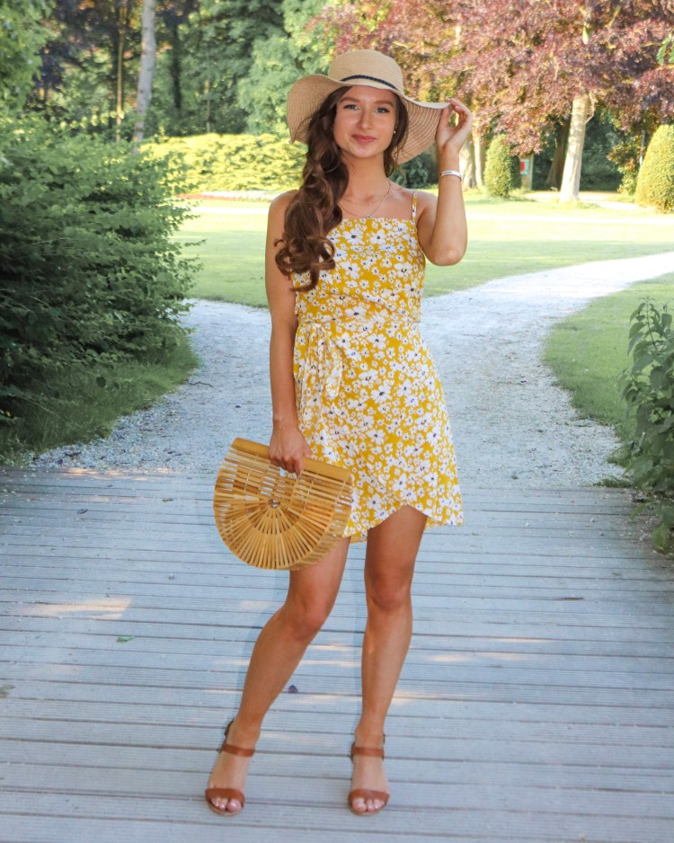 floral summer dress yellow