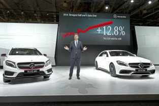Ola Källenius, Member of the Board of Management, Sales and Marketing Mercedes-Benz Cars, presenting new models for the Russian market at the Moscow International Auto Salon.