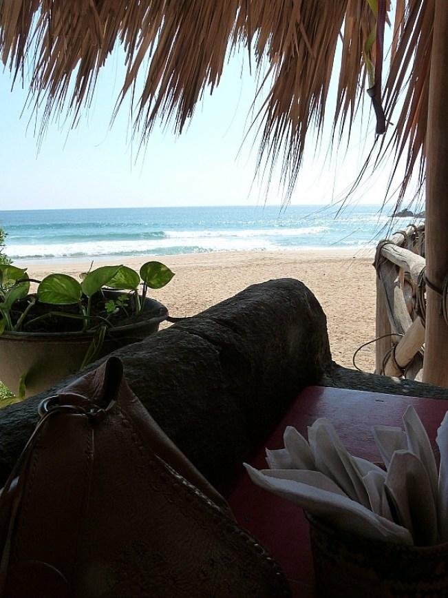 Beachside restaurants views in San Agustinillo, Mexico