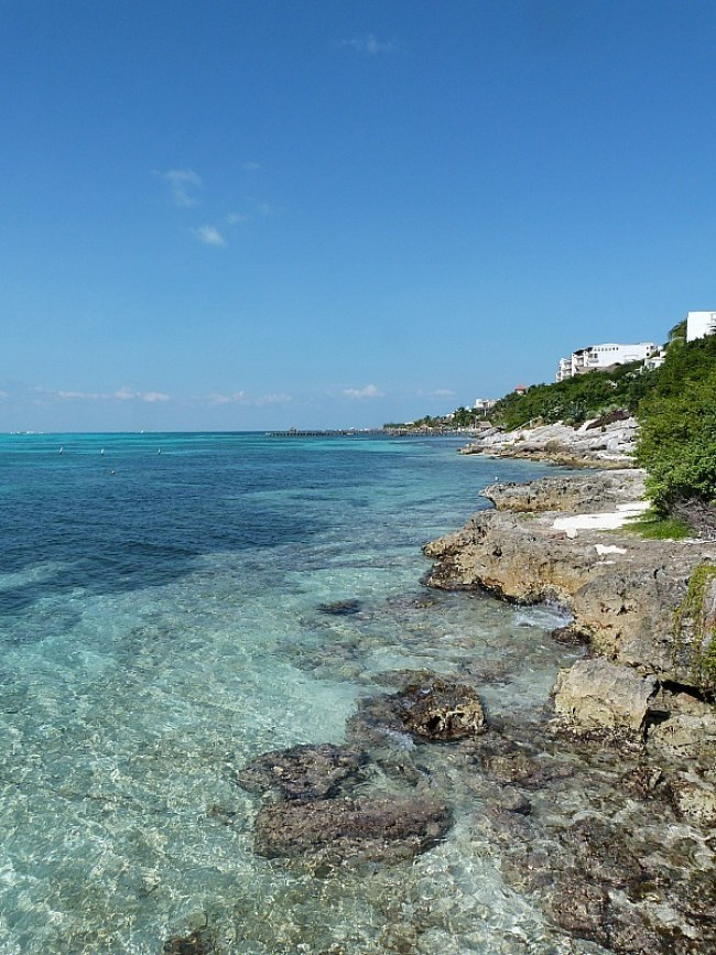 Coast of Isla Mujeres, Yucatan Coast, Mexico
