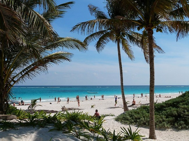 Beach at Tulum, Yucatan Coast, Mexico