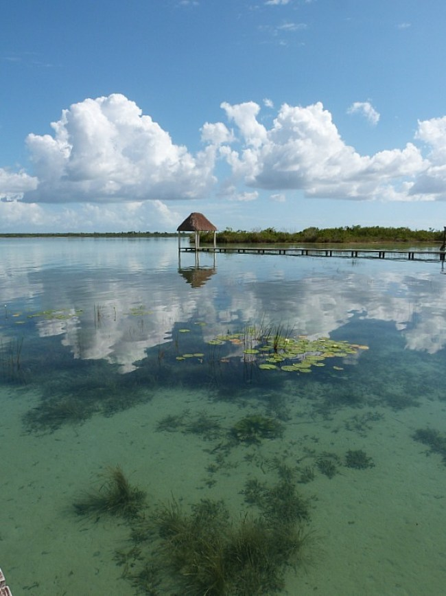 Laguna Bacalar on the Yucatan Coast of Mexico