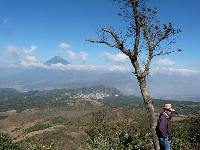 Volcano views near Antigua, Guatemala