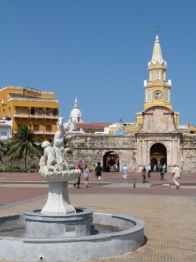 Entrance to the Old Town of Cartagena, Colombia