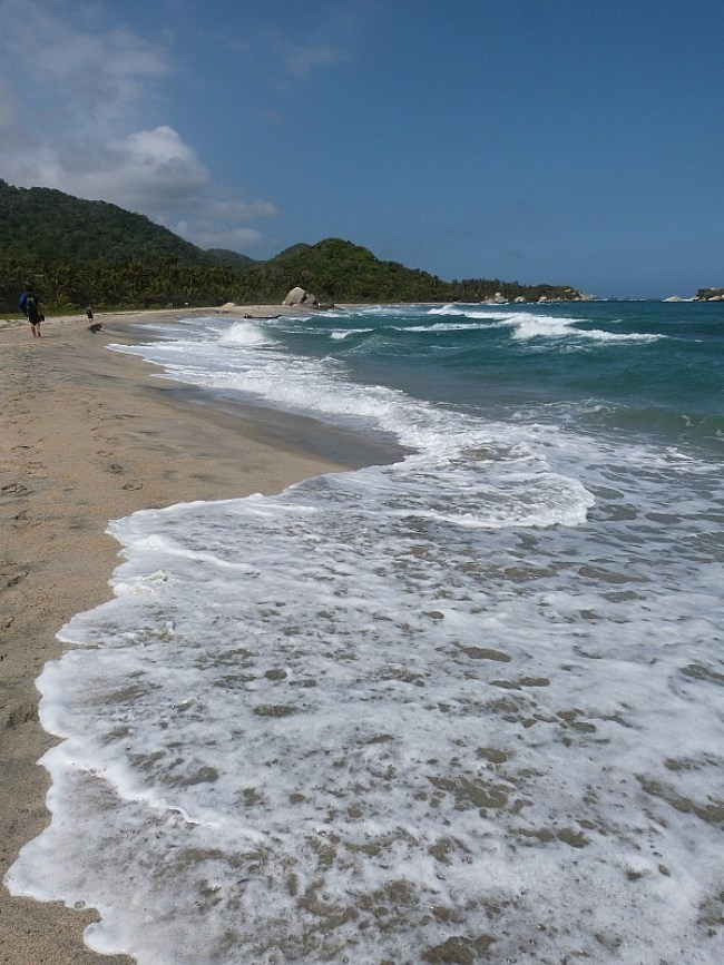 Stunning beach in Tayrona National Park, Colombia