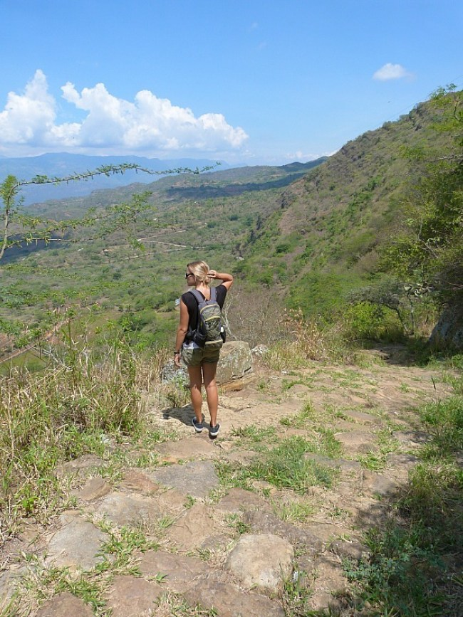 Hiking from Barichara to Guane in Colombia