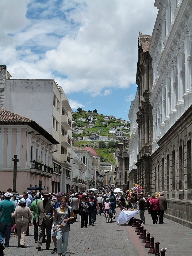 Old Town in Quito in Ecuador