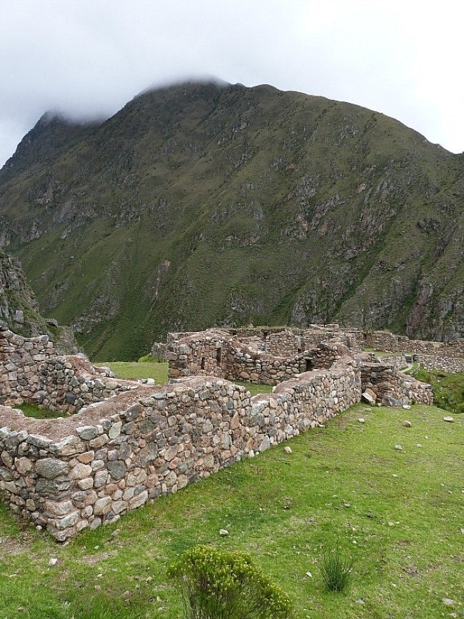Ruins on Day Two of the Inca Trail in Peru