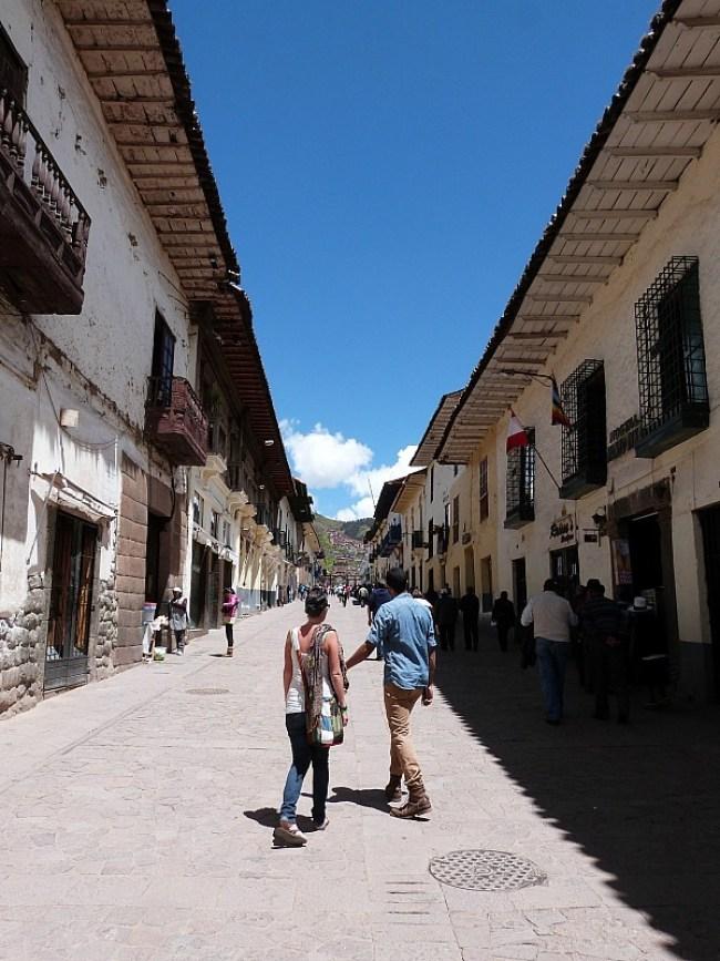 Wandering the streets in Cusco, Peru