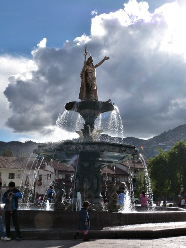 Fountain in Cusco, Peru