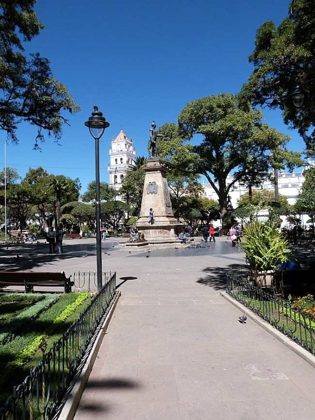 Town Square in Sucre, Southern Bolivia