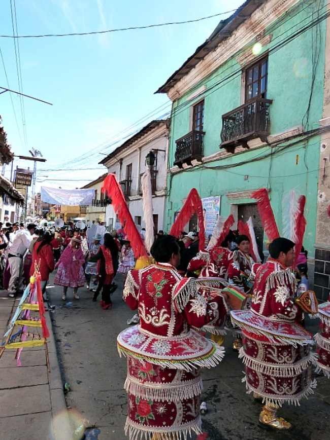 Parade in Potosi, Southern Bolivia