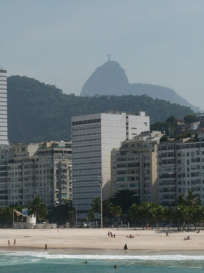 Christ the Redeemer in the distance in Rio