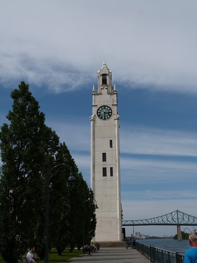 Clocktower in Old Town Montreal in Quebec