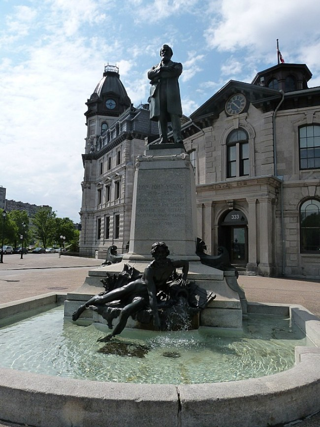 Fountain in Old Town Montreal, Quebec