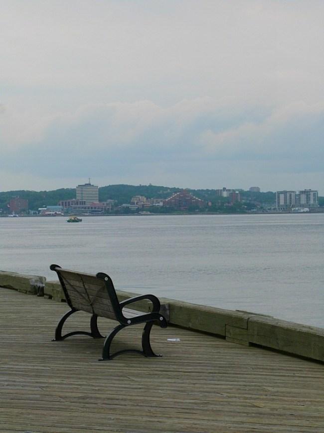 Walking path by Halifax Harbour, Nova Scotia