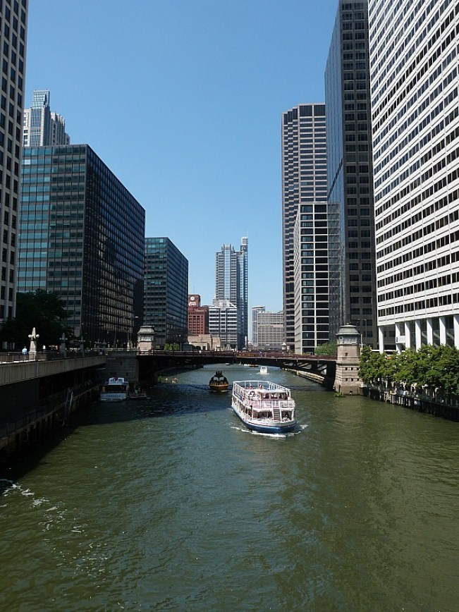 The river in Chicago - the heart of the Windy City