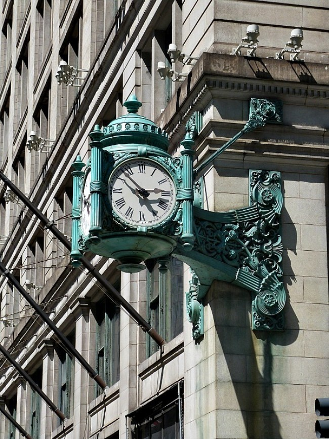Beautiful old clock in Chicago