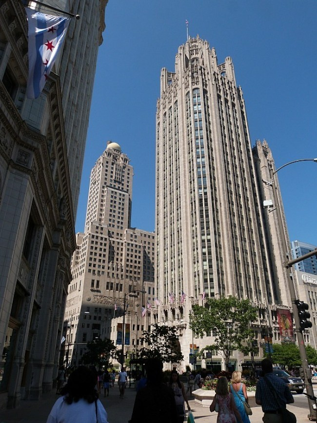 The gothic Tribune Tower in Chicago