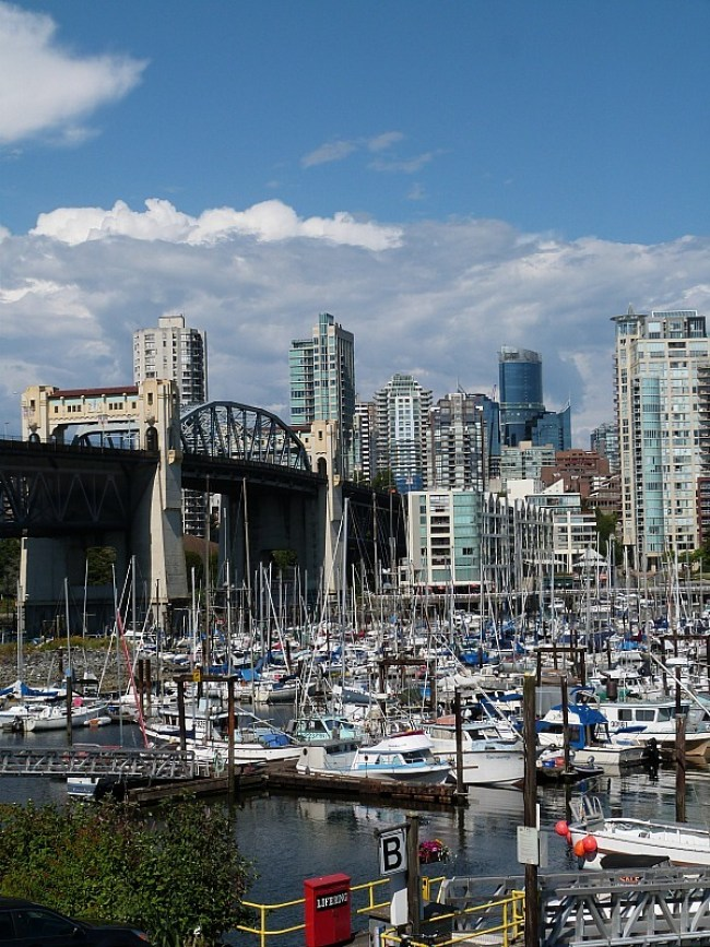 View of False Creek from Granville Island Market