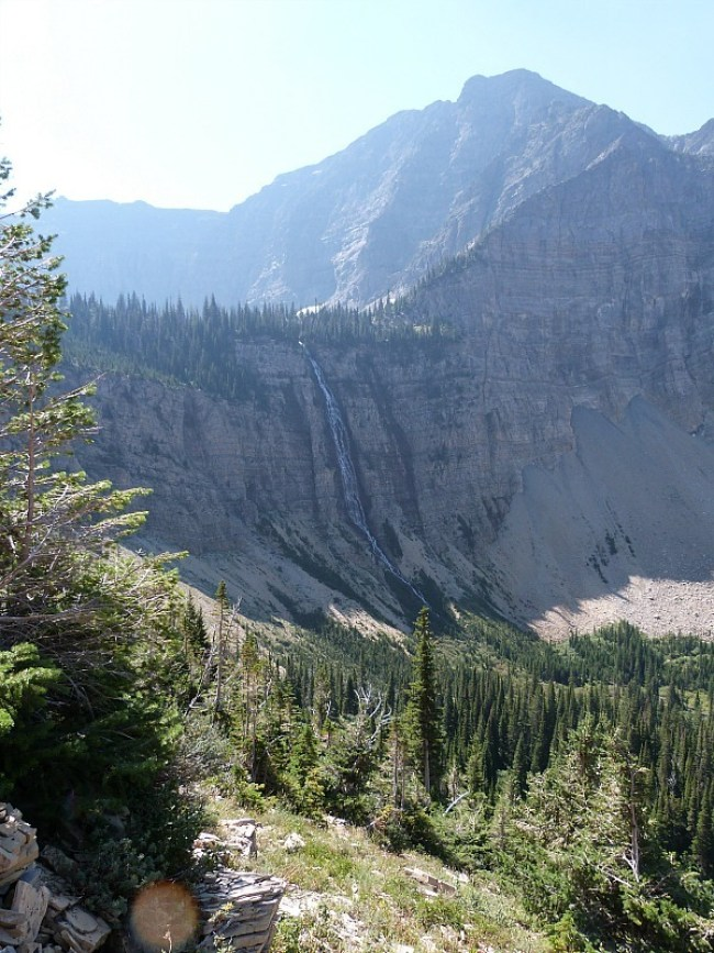 Beautiful views along the Crypt Lake Hike in Waterton Lakes National Park, Canada
