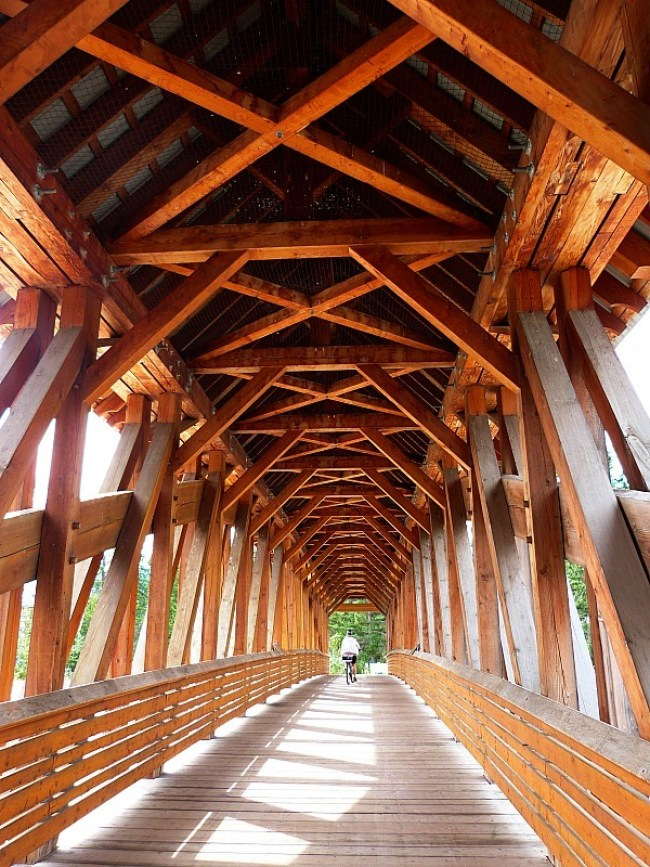 Wooden Bridge in Golden, British Columbia - a Rocky Mountain Road Trip must