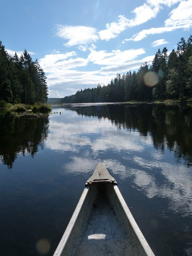 Kayaking on Denman Island in Canada