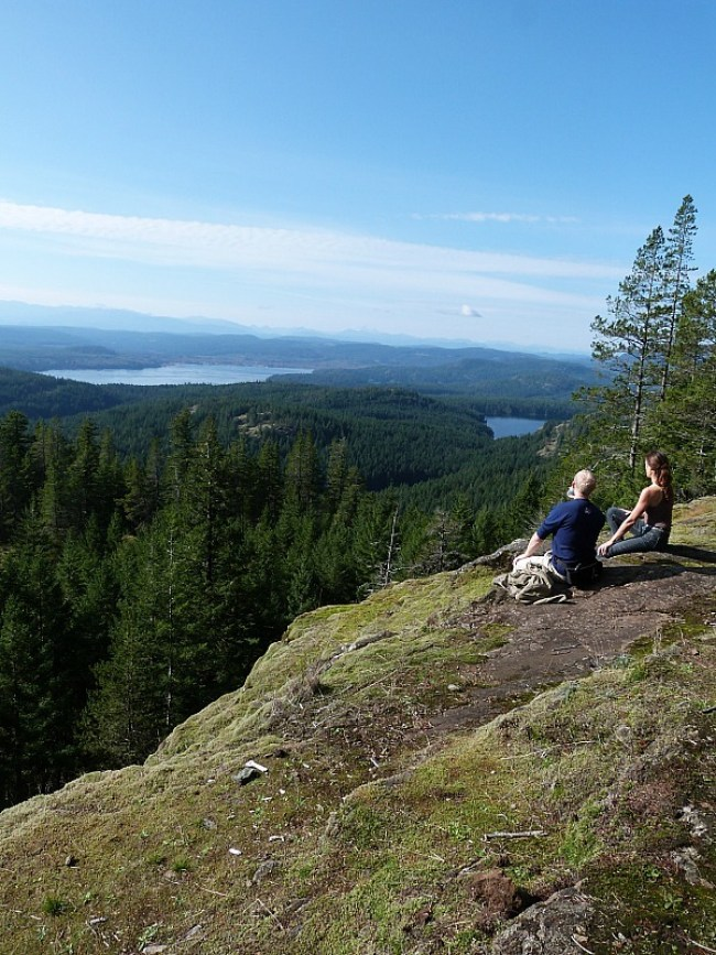 Hiking Quadra Island - the view from Chinese Mountain