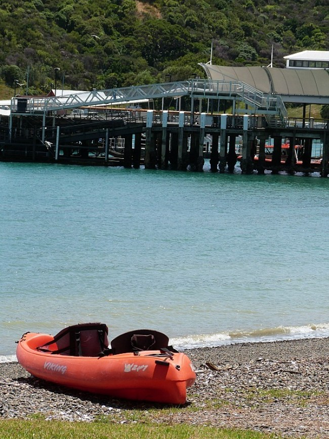 Matiatia Wharf on Waiheke Island in Auckland, New Zealand