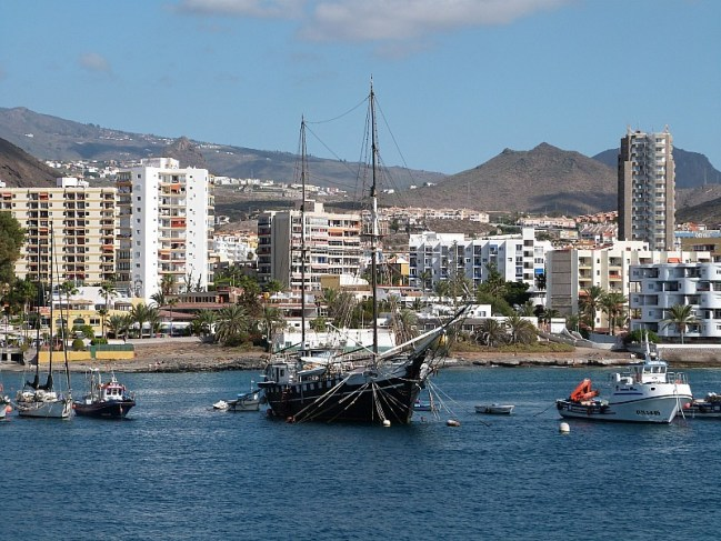 Harbour in South Tenerife on the way to La Gomera