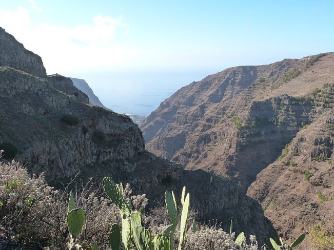 Driving the mountainous landscape of La Gomera, The Canary Islands