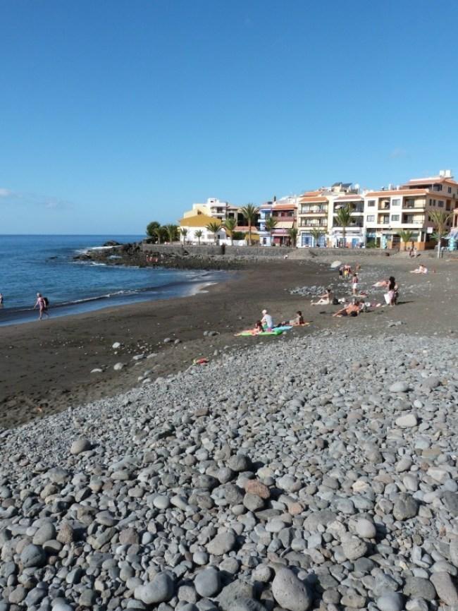Black sand beaches on La Gomera in the Canary Islands