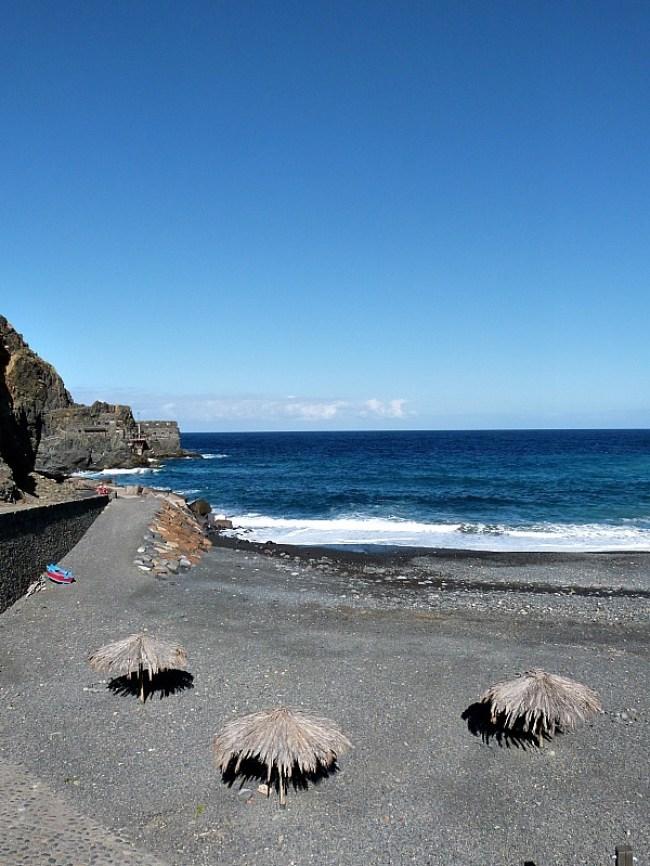 Playa de Vallehermoso on La Gomera in the Canary Islands of Spain
